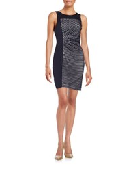 Guess Ruched Sheath Dress Midnight Blue