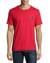 True Religion Graphic Logo Short Sleeve Tee Ruby Red