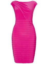 Adrianna Papell Plus Size Asymmetric Draped Banded Dress Cosmo Pink