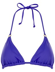 Lazul Heather Triangle Nubia Bikini Top Purple