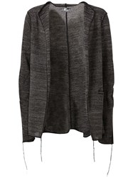 Lost And Found Frayed Edge Cardigan Black