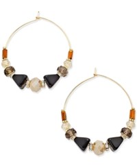 Inc International Concepts Gold Tone Multi Bead Gypsy Hoop Earrings Only At Macy's