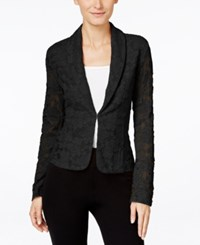 Inc International Concepts Lace Blazer Only At Macy's Deep Black