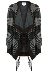 Shona2 Tassel And Check Cardigan By Jovonna Green