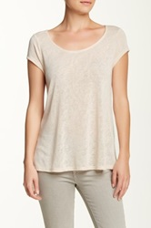 Olivia Moon Zip Back Tee Beige