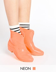 Asos Galaxy Glow In The Dark Wellies Orange