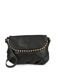 Kensie Stud Trimmed Crossbody Bag Black