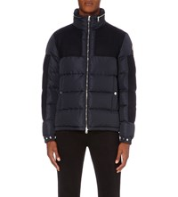 Moncler Panelled Down Filled Jacket Navy