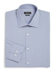 Saks Fifth Avenue Trim Fit Pindot Cotton Dress Shirt