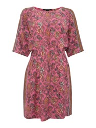 Maison Scotch Paisley Tunic Dress Pink