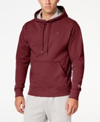 Champion Men's Powerblend Fleece Hoodie Maroon