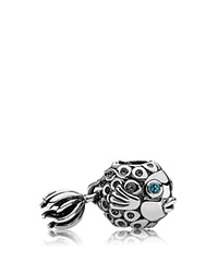 Pandora Design Pandora Charm Sterling Silver And Deep Blue Topaz Splish Splash Moments Collection Silver Deep Blue