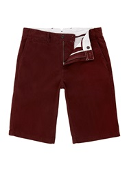 Linea Phoenix Chino Shorts Burgundy