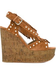 Ash 'Blossom' Sandals Brown