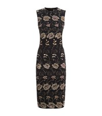Givenchy Floral Embroidered Midi Dress Female Black