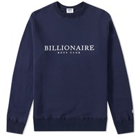 Billionaire Boys Club Monaco Flock Crew Sweat Blue