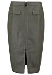 Oasis Pencil Skirt Khaki