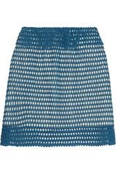 See By Chloe Crocheted Cotton Mini Skirt Blue
