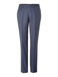 New And Lingwood Coledale End On End Suit Trousers Blue