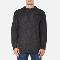 Vivienne Westwood Anglomania Men's Long Ribs Jumper Charcoal