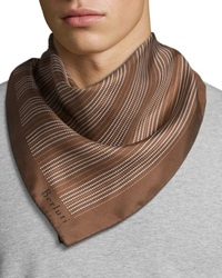 Berluti Dotted Line Square Scarf Brown