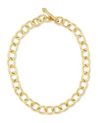 Elizabeth Locke Hammered 19K Volterra Link Necklace 17 L