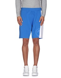 Bikkembergs Trousers Bermuda Shorts Men Azure