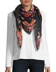 Echo Floral Wool Scarf Multi Colored