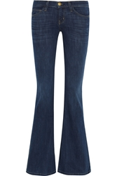 Current Elliott The Low Bell Mid Rise Flared Jeans Mid Denim