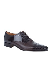 Stemar Croc Panel Oxford Shoe Male