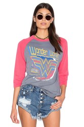 Junk Food Wonder Women Tee Gray