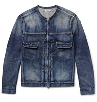Nonnative Zip Up Washed Denim Jacket Blue
