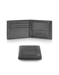 Piquadro Vibe Leather Id Flap Wallet Black