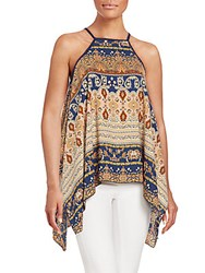 Romeo And Juliet Couture Paisley Print Asymmetrical Top Multi