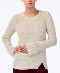 Bar Iii Bell Sleeve Sweater Only At Macy's Egret Combo