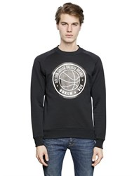 Golden Goose Rubberized Logo Print Cotton Sweatshirt