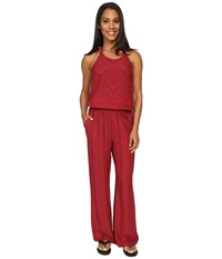 Prana Bijou Jumpsuit Sunwashed Red Women's Jumpsuit And Rompers One Piece Pink