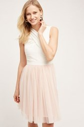Anthropologie Darla Tulle Dress Ivory