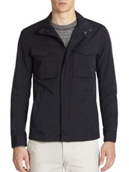 Theory Yost Fuel Nylon Jacket Ink Blue