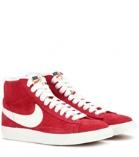 Nike Blazer Mid Vintage Suede High Top Sneakers Red