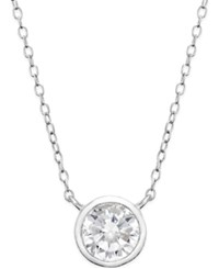 Giani Bernini Cubic Zirconia Solitaire Bezel Pendant Necklace In 18K Gold Over Sterling Silver Or Sterling Silver