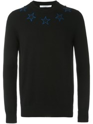 Givenchy Star Embroidered Jumper Black