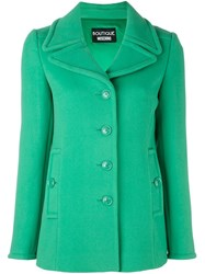 Boutique Moschino Single Breasted Coat Green