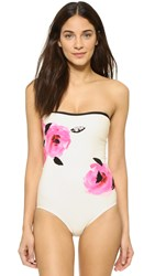 Kate Spade Paloma Beach Embellished Maillot Cream