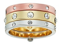 Kate Spade Infinity Beyond Mixed Metal Hinged Ring Set Metal Multi Ring Gold