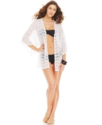Kenneth Cole Reaction Lace Cover Up Women's Swimsuit White