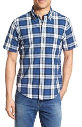 Men's Tailor Vintage Regular Fit Short Sleeve Check Sport Shirt