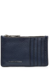 Marc Jacobs Two Tone Leather Card Zip Pouch Multicolor