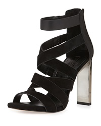 Bcbgmaxazria Dhara Strappy Leather Sandal Black