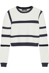 Tibi Sailor Cropped Knitted Sweater White